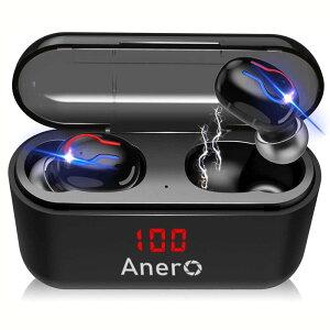 ワイヤレスイヤホン 高音質 LEDディスプレイ Bluetooth イヤホン 完全 IPX6防水 スポーツ ブルートゥース イヤホン 両耳通話 左右分離型 軽量 自動ペアリング ノイズキャンセリング マイク付き