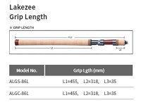 パームスレイクジーLSZS-990・SSレイクショアスローロッドスピニング2ピース