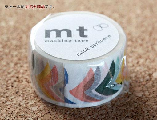 【mtカモ井加工紙】マスキングテープミナ ペルホネン:bird grande mix バードグランデミックス 27mm