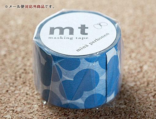 【mtカモ井加工紙】マスキングテープミナ ペルホネン:soda water blue ソーダウォーターブルー水玉 35mm