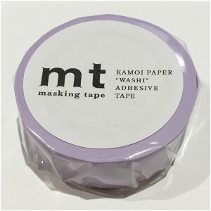 【mtカモ井加工紙】マスキングテープ 1Pパステルパープル