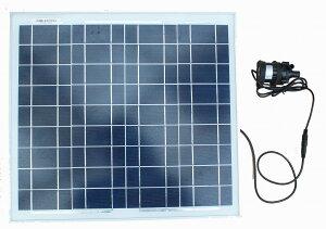 小型ソーラーポンプセット 30W 水中ポンプ。