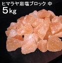 【食用 岩塩】 ヒマラヤ岩塩 食用 ピンク ブロック ナゲット中 岩塩 5kg 【おろし用お料理用岩塩】 ミネラル岩塩 【…