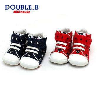 shoes shoes made in mikihouse Miki house DOUBLE.B ☆ petit embroidery pattern ★ first baby shoes double B 12-12.5cm Japan