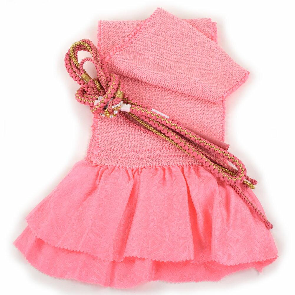 振袖用 帯締め帯揚げセット 総絞り 成人式 赤 朱赤 ピンク 青 紫 山吹色 ひわ色 緑 オレンジ 黒