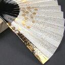 礼装用 金彩蒔絵扇子 梅 末広 留袖用 黒留袖 結婚式 フォーマル 金