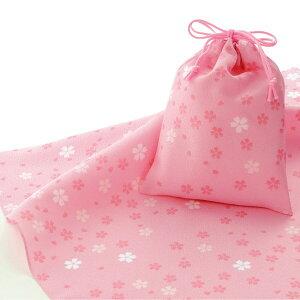 エコクロス-風呂敷 ふろしき ×巾着セット- 小桜 エコバッグ 母の日 父の日 敬老の日 ギフト プレゼント クリスマス おしゃれ 可愛い 一升餅 70cm かわいい 名入れ可 ピンク