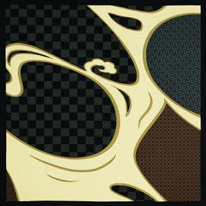 綿大判風呂敷 ふろしき 秦観世水(ソウカンゼスイ)三巾(105cm幅) エコバッグ 母の日 父の日 ギフト プレゼント クリスマス おしゃれ 可愛い 一升餅 名入れ可 黒