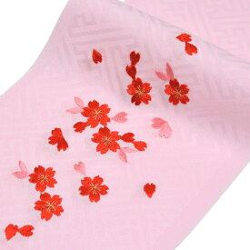 日本製 子供用 刺繍半衿 半襟 ピンク 七五三 3歳 7歳 こども kids 半襟