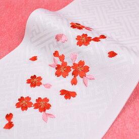日本製 子供用 刺繍半衿 半襟 白 七五三 3歳 7歳 こども kids 半襟