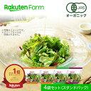 【クーポンご利用で最大1,700円オフ】オーガニック野菜 3種のサラダ 80g×4個 国産