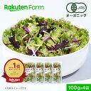 【クーポンご利用で最大1,700円オフ】100%オーガニック 野菜サラダ 100g x 4袋【ミックス】
