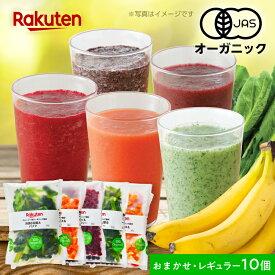 【新テイスト】100%オーガニック冷凍スムージーキット おまかせセット レギュラーサイズ100g×10個