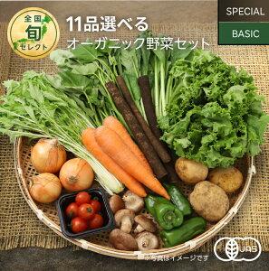 11品選べるオーガニック野菜セット (25種から選択)