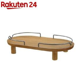 リッチェル ペット用木製テーブル ダブル ブラウン(1コ入)