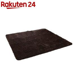 イケヒコ フィリップ ラグマット 130*185cm ブラウン 床暖、ホットカーペット対応(1枚入)