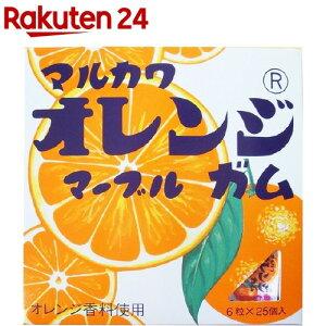 マルカワ ビッグサイズ オレンジマーブルガム(6粒*25個入)【マルカワ】