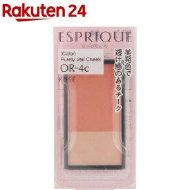 エスプリーク ピュアリーベール チーク OR-4c オレンジ系(3.3g)【エスプリーク】