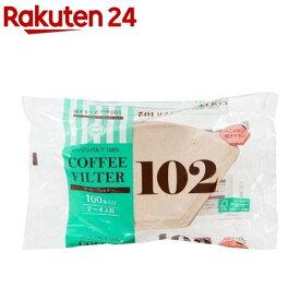 ストリックスデザイン 無漂白ペーパーコーヒーフィルター 2〜4杯用 102 SD-903(100枚入)