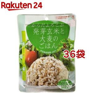 からだよろこぶ発芽玄米と大麦のごはん(160g*36袋セット)【JAグリーンサービス花巻】