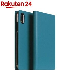 SLG iPhone XR カーフスキンレザーダイアリー ブルー SD13704i61(1個)【SLG Design(エスエルジーデザイン)】