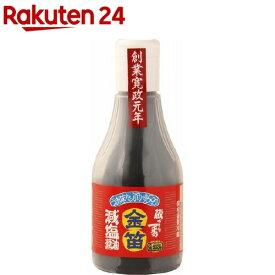 笛木醤油 金笛減塩醤油ボトル(200ml)【金笛】