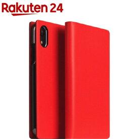 SLG iPhone XR カーフスキンレザーダイアリー レッド SD13705i61(1個)【SLG Design(エスエルジーデザイン)】