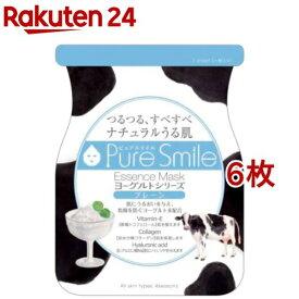 ピュアスマイル エッセンスマスク ヨーグルトシリーズ プレーン(1枚入*6コセット)【ピュアスマイル(Pure Smile)】[パック]