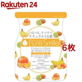 ピュアスマイル エッセンスマスク ヨーグルトシリーズ ミックスフルーツ(1枚入*6コセット)【ピュアスマイル(Pure Smile)】[パック]