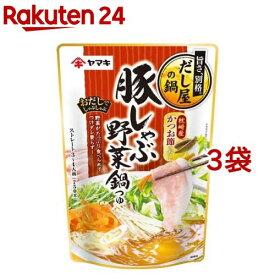 ヤマキ 豚しゃぶ野菜鍋つゆ(750g*3コセット)