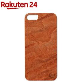 マン&ウッド iPhone5 リアルウッドケース マグマ ホワイト I1507i5(1コ入)【マン&ウッド(Man&Wood)】