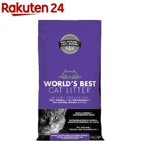 猫砂 ワールドベストキャットリッター マルチキャットクランピング<ラベンダー>(3.18kg)【ワールドベストキャットリッター(WBCL)】