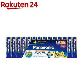 パナソニック アルカリ乾電池 EVOLTA(エボルタ) 単4形 LR03EJSP/14S(12本入+2本入)【エボルタ(EVOLTA)】
