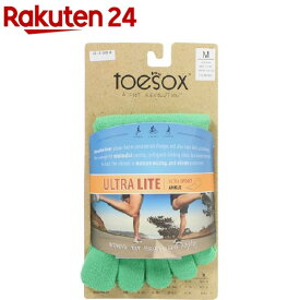 ToeSox Sport Perfdry Ultralite Weight Ankle Green M(1足)【ToeSox(トゥソックス)】