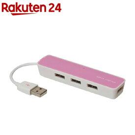 ナカバヤシ 4ポートUSB2.0ハブ UHー2374P(1コ入)