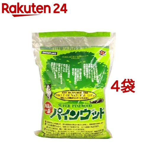 猫砂 パインウッド(6L*4コセット)【送料無料】