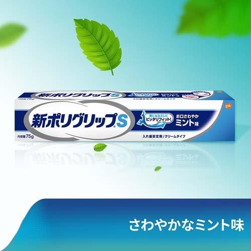 新ポリグリップS部分・総入れ歯安定剤お口さわやかミント味