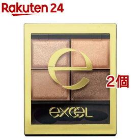 エクセル スキニーリッチシャドウ SR 01 ベージュブラウン(2個セット)【エクセル(excel)】