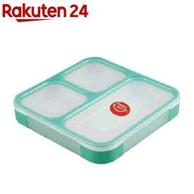 DSK 薄型弁当箱 フードマン ランチボックス 800mL ミントグリーン(1コ入)【DSK】