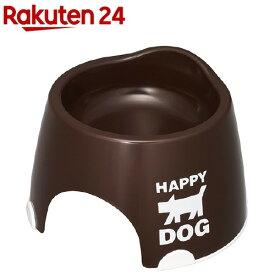 小型犬専用フードボウル すべり止め付 チョコブラウン(1コ入)