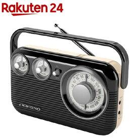 ADESSO(アデッソ) レトロAM/FMラジオ RA-601 ブラック(1個)【ADESSO(アデッソ)】