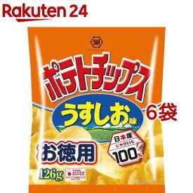 湖池屋 ポテトチップス うすしお味(126g*6袋セット)【湖池屋(コイケヤ)】