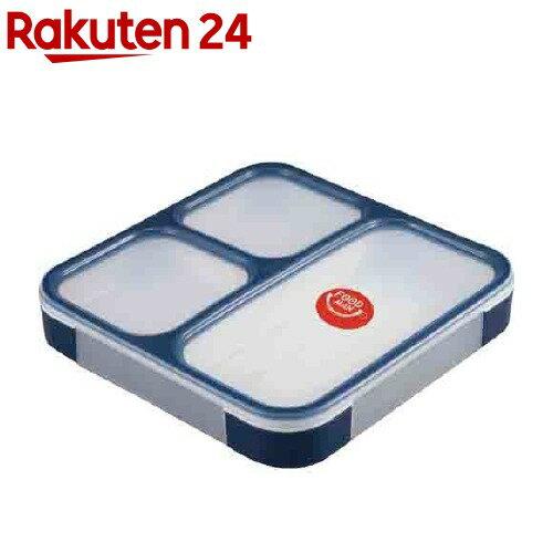 DSK 薄型弁当箱 フードマン ランチボックス 800mL ネイビー(1コ入)【DSK】