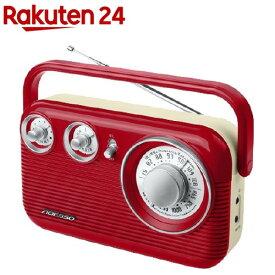 ADESSO(アデッソ) レトロAM/FMラジオ RA-601 レッド(1個)【ADESSO(アデッソ)】