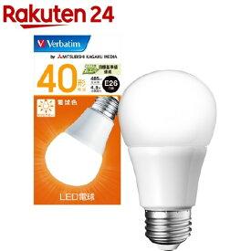 バーベイタム LED電球 E26 40W相当 電球色 LDA5L-G/V6(1個)【バーベイタム】