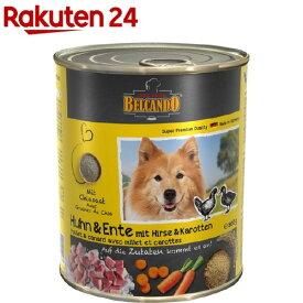 ベルカンド チキン&ダッグ キビとニンジン 缶詰(800g*6個入)