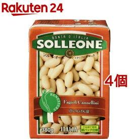 ソル・レオーネ 白いんげん豆(380g*4個セット)【ソル・レオーネ(SOLLEONE)】