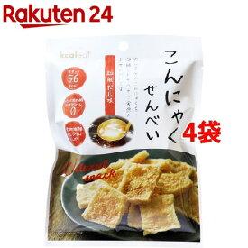 カルイット こんにゃくせんべい 和風だし味(15g*4袋セット)【kcaleat(カルイット)】
