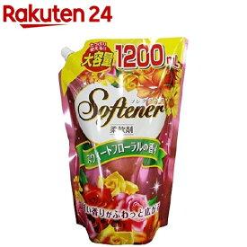 フレグランスソフター スウィートフローラルの香り 大容量 つめかえ用(1.2L)【ソフター】[柔軟剤]