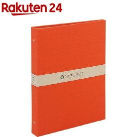 バインダー式ポケットアルバム テラコッタ L判3段ポケット レッド TER-L3Y-140-R(1冊)【ナカバヤシ】